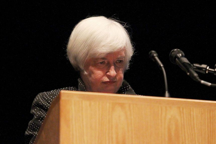 US Federal Reserve Chair Janet Yellen pauses at the end of her speech at the University of Massachusetts in Amherst, Massachusetts on Sept 24, 2015.