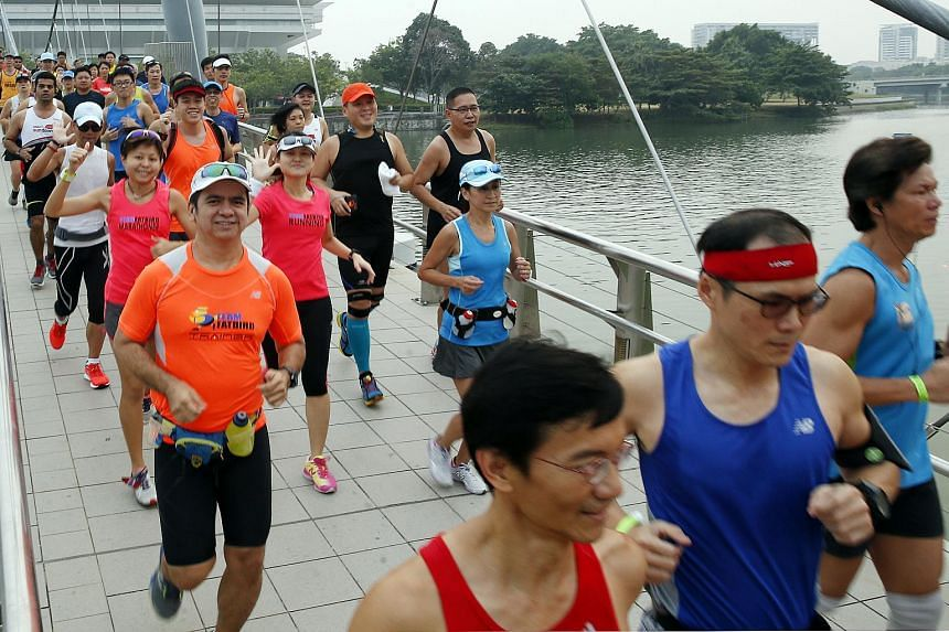 ST Run participants at the Hub Training Run #3.