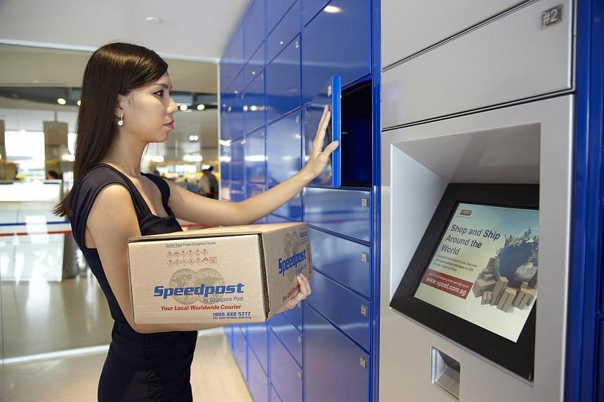 A user collecting a parcel at a POPstation.