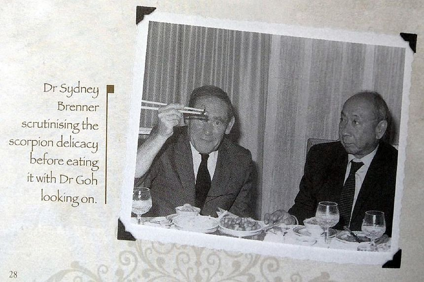 Deputy Prime Minister Teo Chee Hean with Dr Sydney Brenner at the Institute of Molecular and Cell Biology's 30th anniversary dinner in May. Dr Brenner being hosted by Dr Goh Keng Swee during his first visit to Singapore in 1984.