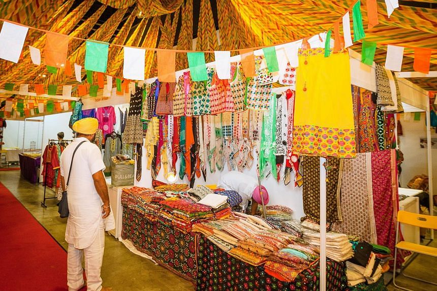 Clothing and accessories are on sale at the Singapore International Indian Shopping Festival till Sunday.