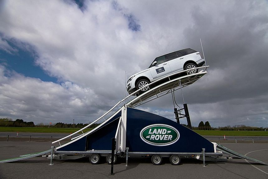 At the Land Rover Twin Terrapod ride, the vehicle will be suspended five metres above the ground at a 45-degree tilt. The thrilling ride is open to the public at the Sports Hub's OCBC Square - in front of the Kallang Wave Mall - from 9.30am to 7pm on
