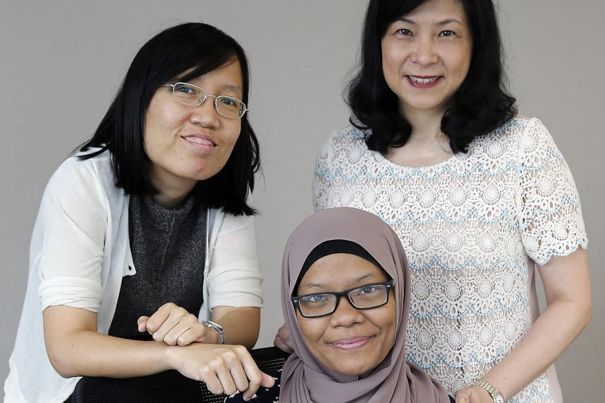 Former lymphoma patient Erma Maulood (centre) will be helping out at the support group. Dr Michelle Poon (far left) and Dr Lydia Seong are from a cancer institute and a foundation, respectively, involved in forming the group.