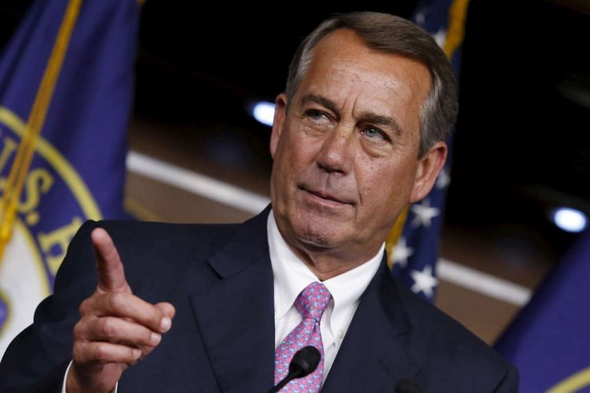 Boehner, 65, stunned Republican House members at a morning meeting on Friday with the announcement he will leave the top job.