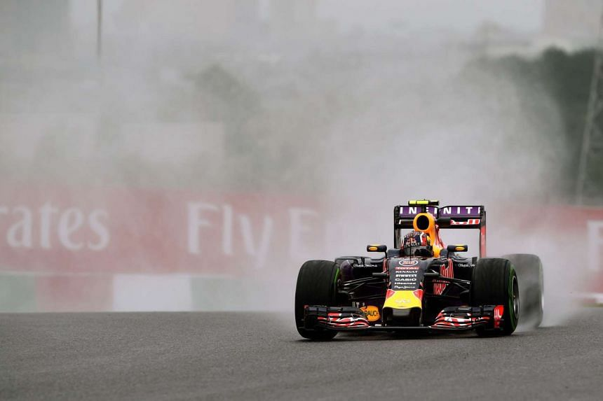 Red Bull driver Daniil Kvyat during the first practice session of the Formula One Japanese Grand Prix on Sept 25, 2015.