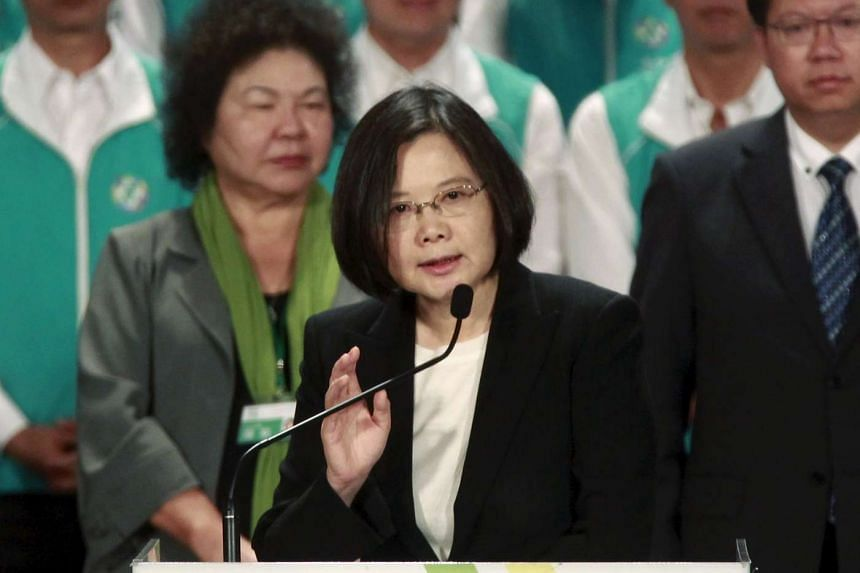 Taiwan's opposition leader Tsai Ing-wen gives a speech at a party congress on Sept 19, 2015.