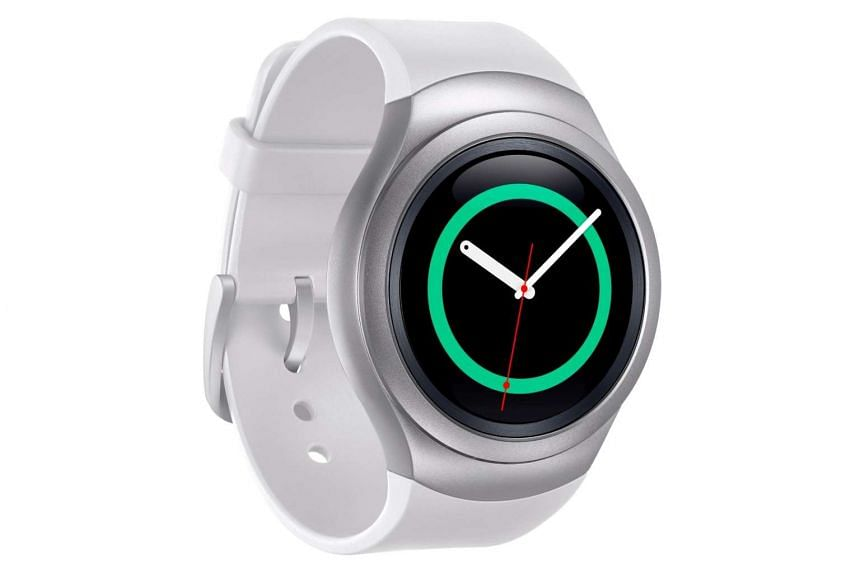 The Gear S2 smartwatch is powered by a 1GHz dual core processor, and sports a 1.2-inch circular screen.