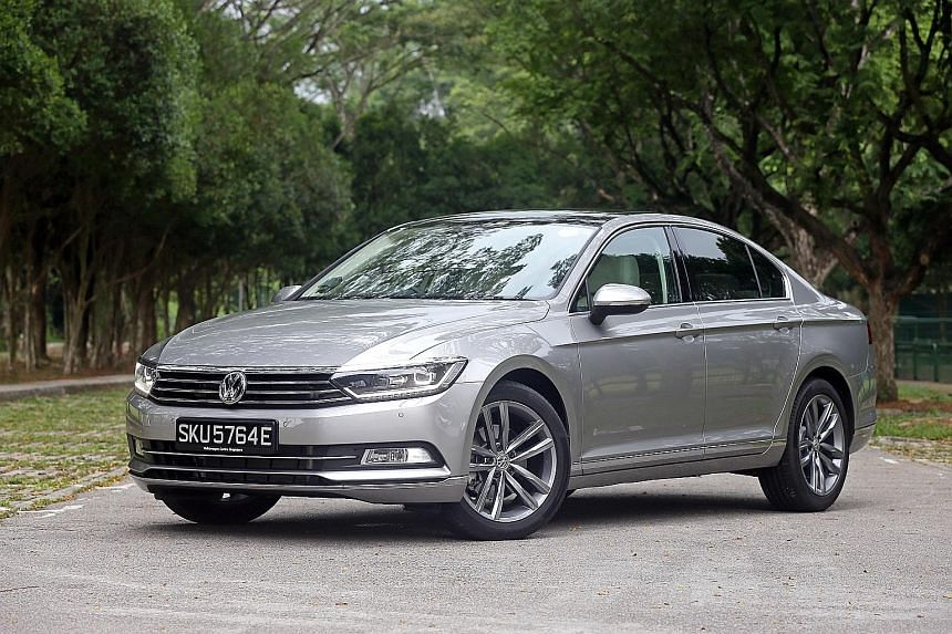 The new Passat has shorter overhangs and a more spacious interior.