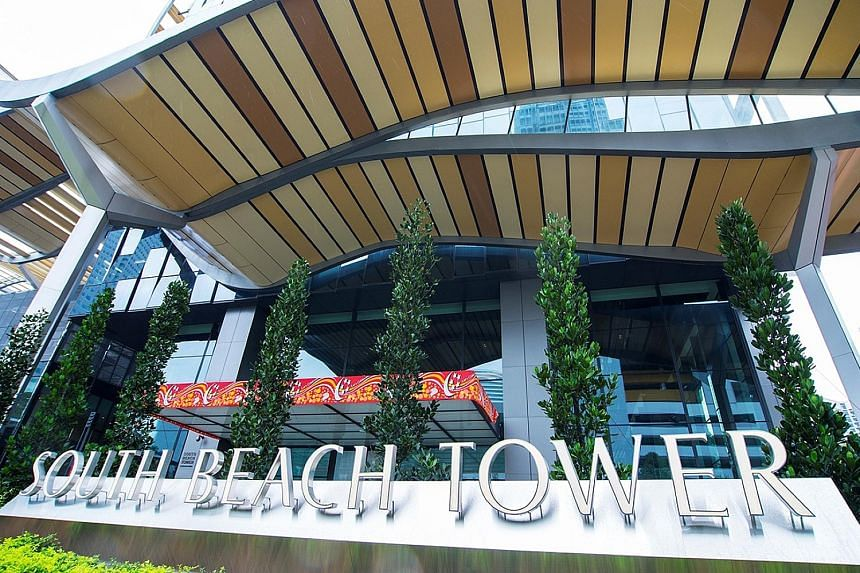 South Beach Residences, which comprises 190-luxury apartments, is expected to be completed in the first half of next year. The condo is part of the mixed-use South Beach project in Beach Road.