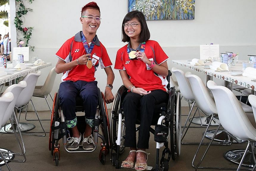 Sailors Jovin Tan and Yap Qian Yin won gold at the Asian Para Games last year. He is aware of the extra pressure on home ground while she is excited about performing in front of family and friends.