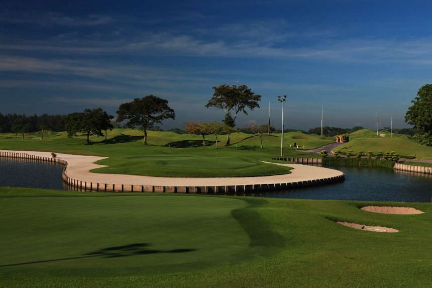 The 18th hole on the Masters Course at Laguna National Golf and Country Club (LNGCC).