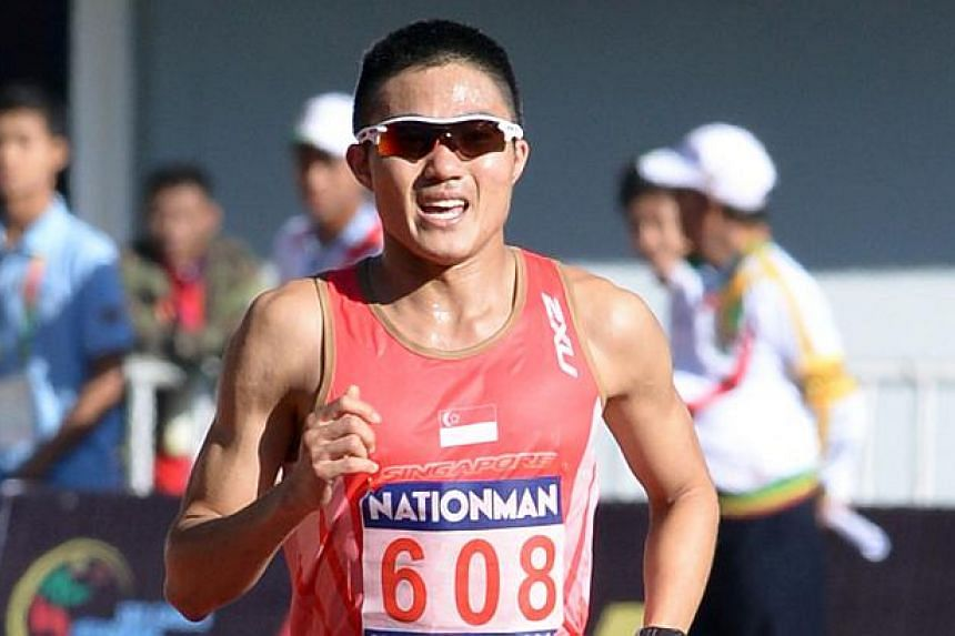 Former SEA Games triathlon and marathon champion Mok Ying Ren at the 27th SEA Games in Naypyitaw, Myanmar, on Dec 16, 2013.