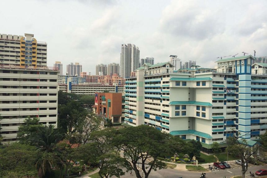 The slightly hazy situation at Toa Payoh North on Saturday (Sept 26) at about 11am.