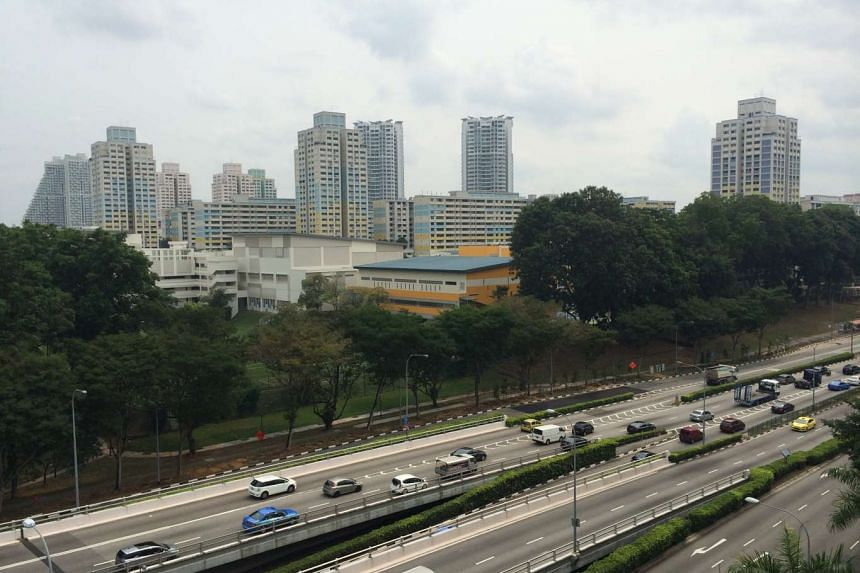 The slightly hazy situation at Braddell Road on Saturday (Sept 26) at about 11am.