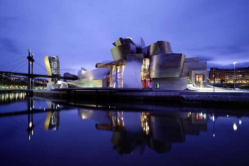 Retrospective in Los Angeles: Scale models of Frank Gehry's Guggenheim Museum (above) in Bilbao, Spain; the Foundation Louis Vuitton Museum; and his home are among the 65 pieces on display at the Los Angeles County Museum of Art. They are part of a r