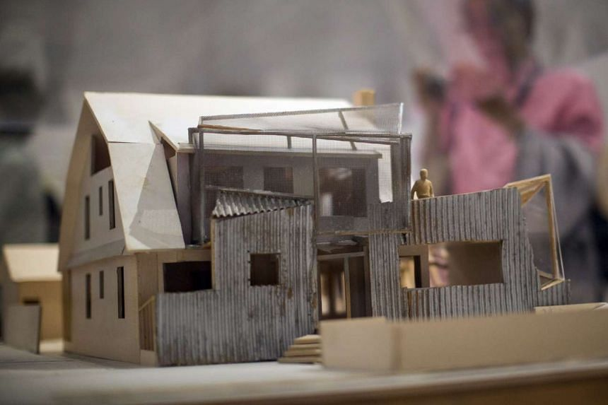 Retrospective in Los Angeles: Scale models of Frank Gehry's Guggenheim Museum in Bilbao, Spain; the Foundation Louis Vuitton Museum; and his home (above) are among the 65 pieces on display at the Los Angeles County Museum of Art. They are part of a r