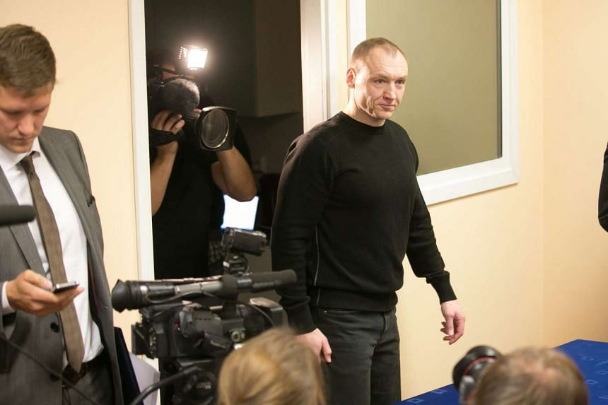Estonian security officer Eston Kohver arrives for a press conference in Tartu, Estonia, Sept 26, 2015. Kohver, who was convicted of espionage in Russia, has been exchanged for imprisoned Russian spy Aleksei Dressen.