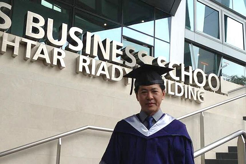 Going back to school to do his executive MBA took a lot of adjusting but Mr Yeo said the course opened his mind to new ways of thinking and sharpened his entrepreneurial skills.