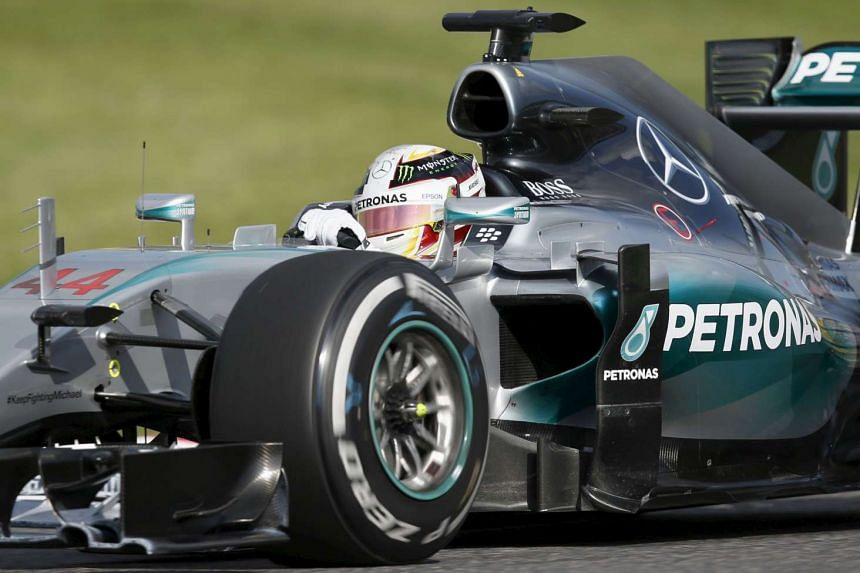 Mercedes Formula One driver Lewis Hamilton of Britain won the Japanese F1 Grand Prix at the Suzuka circuit in Suzuka, Japan, on Sept 27, 2015.