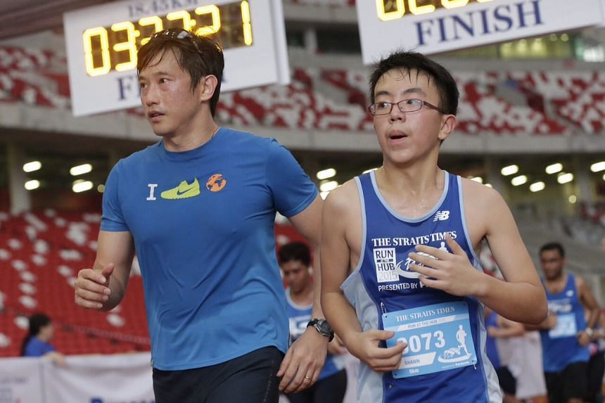 Minister of State for Trade and Industry Mr Teo Ser Luck at the ST Run event.