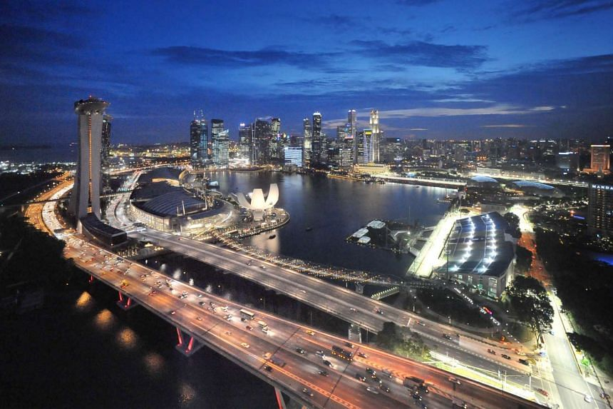 The Central Business District and Marina Bay at night. In 2010, the Government endorsed a report that looked at long-term strategies for the economy and how Singapore should position itself in the post-financial crisis world. In the five years since