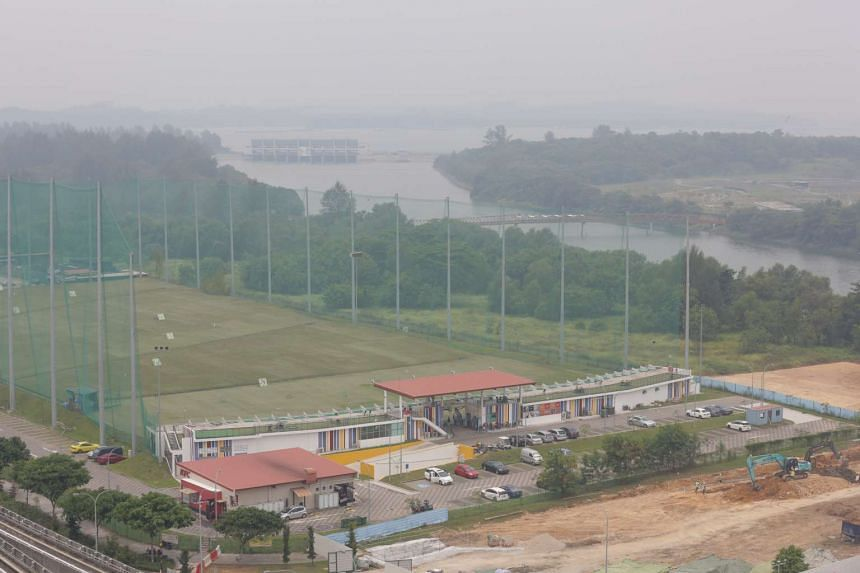 The haze situation in Punggol at around 2pm on Sept 27, 2015.