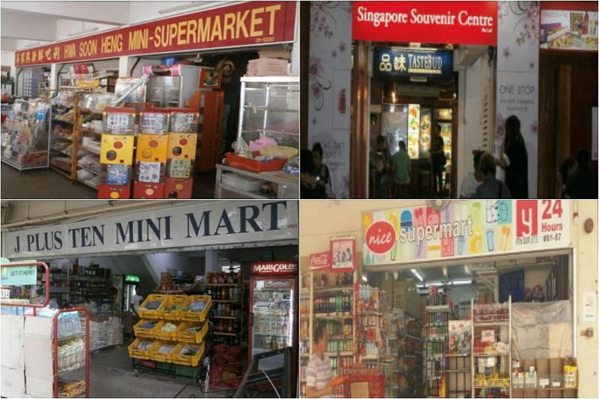 Hwa Soon Heng Mini-Supermarket, Tastebud Foodcourt, J Plus Ten Mini Mart and Nice Minimart had their licences suspended and will not be able to sell tobacco products for six months.