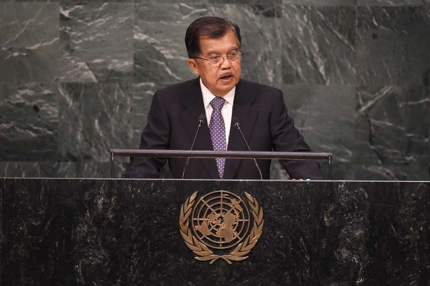 Indonesian Vice-President Jusuf Kalla said that Singapore should help solve haze issue, not just talk about it.
