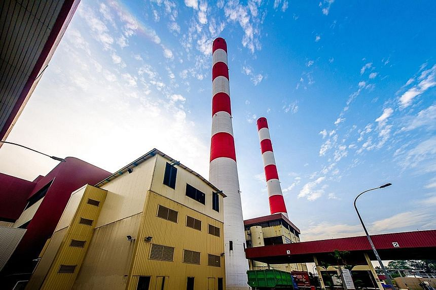 Senoko waste-to-energy plant, owned by Keppel Infrastructure Trust. The trust bucked the recent market trend with a 14 per cent rise so far this month.