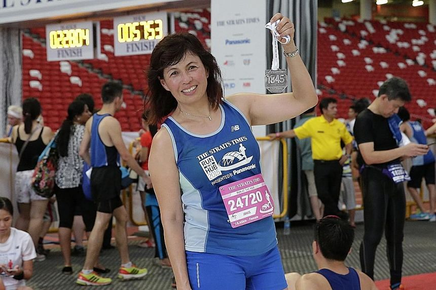 Dr Janice Khoo, who completed the women's 18.45km run, asked 15 of her friends to pledge their support for her cause.