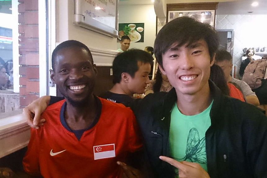 Singapore marathoner Soh Rui Yong (right) with Zambian Jordan Chipangama, whom he trained with for 5 and a half weeks at high altitude in Flagstaff, Arizona, before the San Jose Rock N Roll Half Marathon. Chipangama won the half-marathon in 1:03:00.