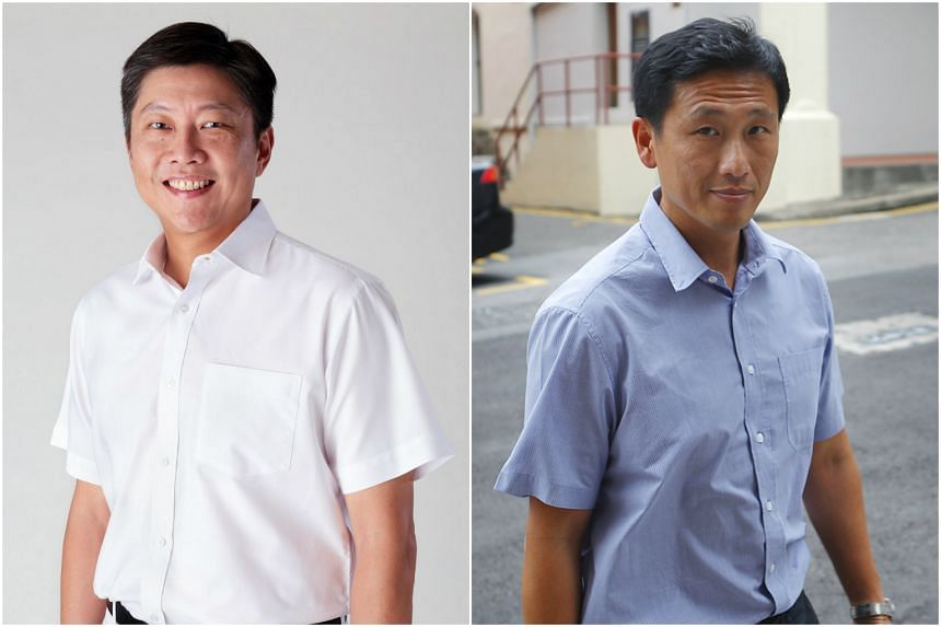 Newly elected members of the fourth-generation leadership Ng Chee Meng (left) and Ong Ye Kung have been appointed co-Acting Ministers for Education.
