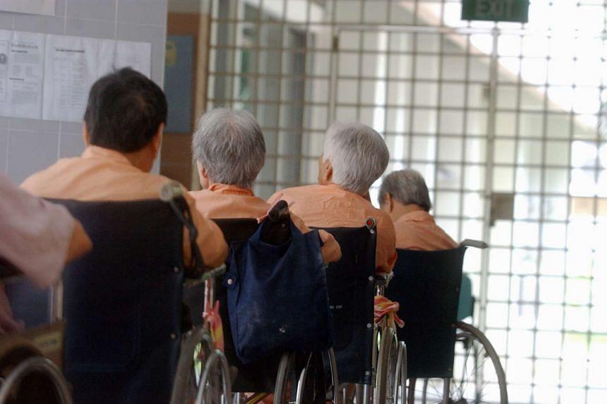 Elderly in a nursing home.