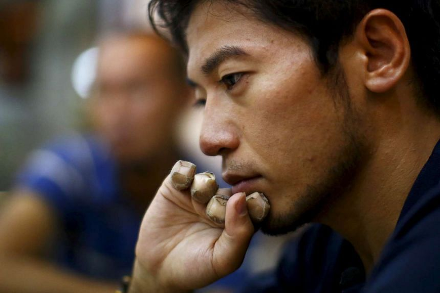 Japanese climber Nobukazu Kuriki during an interview in Kathmandu in this Aug 22, 2015. He lost nine fingers in 2012 on Everest to frostbite.