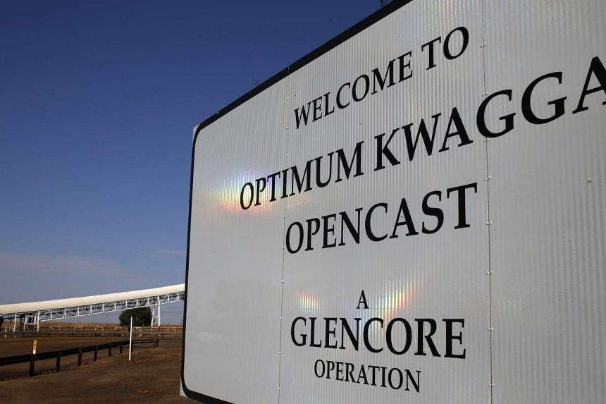 An entrance to the Optimum Kwagga coal mine owned by Glencore is seen near Hendrina in Mpumalanga province, Sept 8 2015.