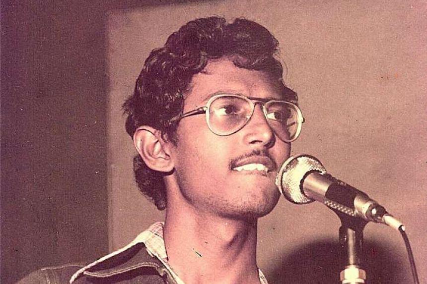 Mohamed Raffee in a 1978 photograph taken at Shangri-La Hotel