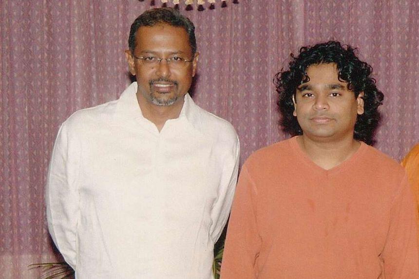 Raffee(left) with Oscar- winning composer A.R. Rahman in a 2003 photograph.