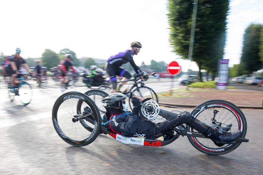 From Sept 17 to 20, Paralympic athlete and cancer survivor William Tan handcycled 500km from London to Paris to raise funds for lymphoma research and needy patients.