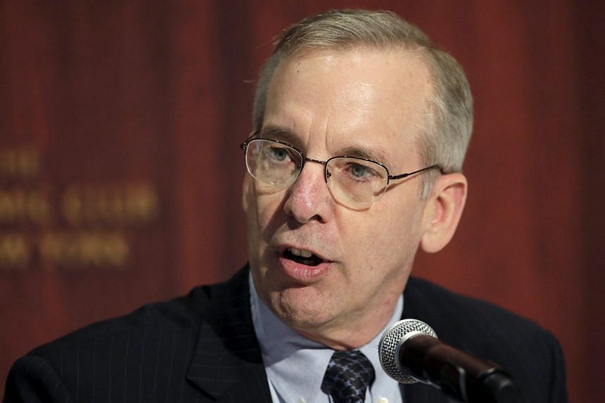 William C. Dudley, president and chief executive officer of the Federal Reserve Bank of New York, speaks to guests during the Economic Club of New York Leadership Excellence Award in New York in this file photograph from Apr 21, 2015.