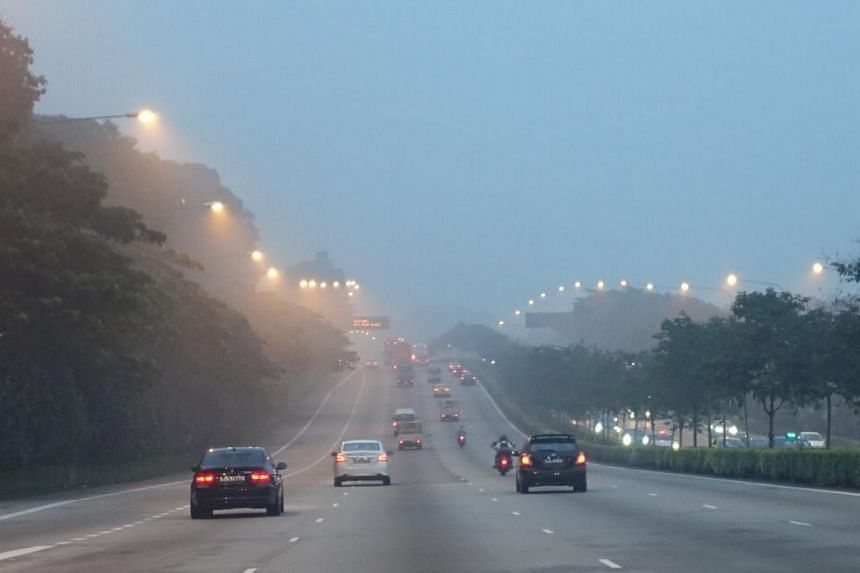 The hazy outlook and traffic along the CTE.