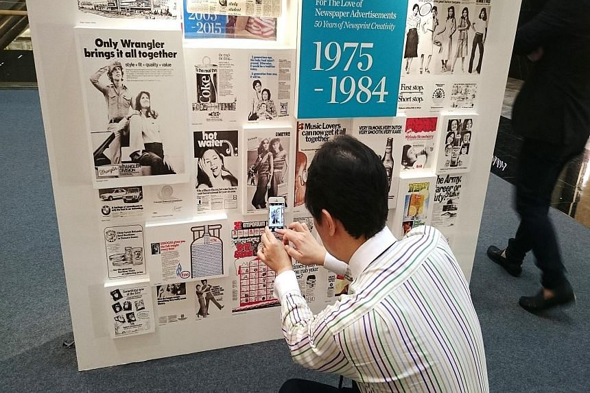 For The Love of Newspaper Advertisements - 50 Years of Newsprint Creativity is a unique exhibition that showcases newsprint creativity, and how it has changed over the last half-century. The exhibition is held at Paragon mall.