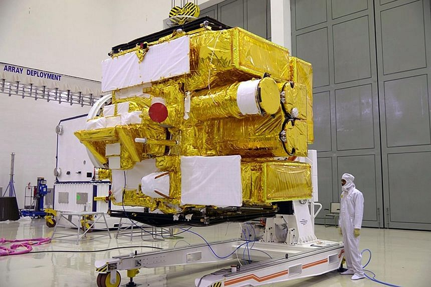 Satellite Astrosat, India's first dedicated space observatory, seen here at the Indian Space Research Organisation Satellite Centre in Bangalore, was launched yesterday as part of India's growing space programme.