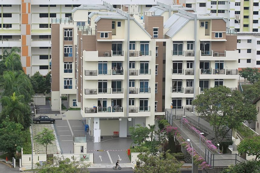 "Suburban shoebox project Kovan Grandeur in Tampines Road. ""The strength of the small-apartment market segment will be tested in the next two years as an increasing number of shoebox units are completed,"" says SLP International executive director Nich"