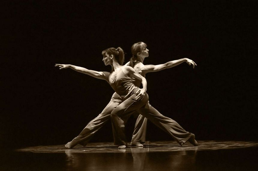 Sylvie Guillem (right) and Emanuela Montanari in a pas de deux from Sylvie Guillem - Life In Progress.