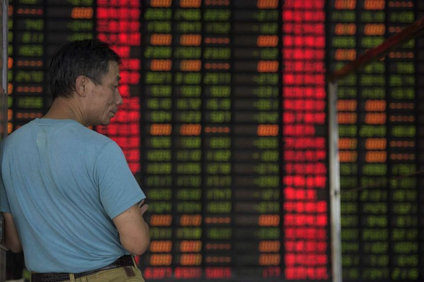 Investors bailed out of an increasingly fragile commodity sector amid fears over China's slowdown, with the benchmark Straits Times Index dipping for the fifth consecutive session by 3.98 points or 0.14 per cent.