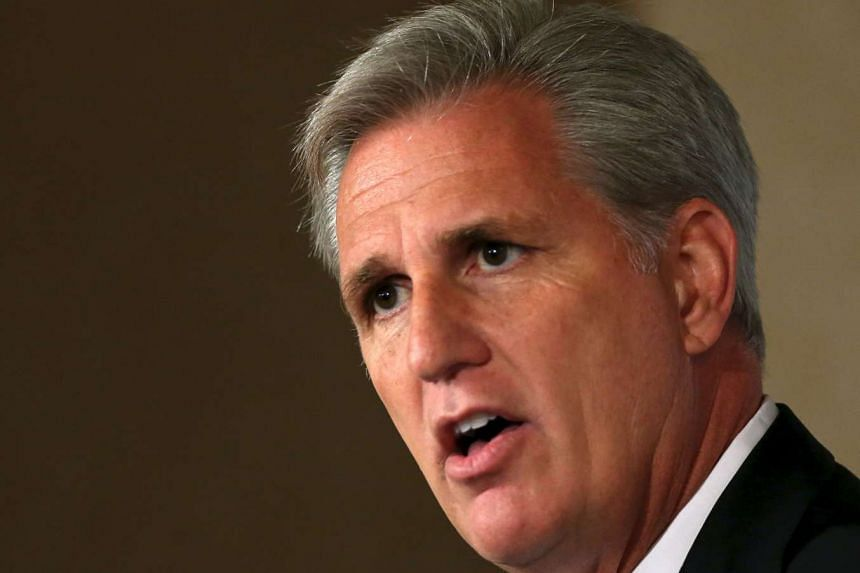 House Majority Leader Kevin McCarthy speaks at the John Hay Initiative in Washington on Monday.