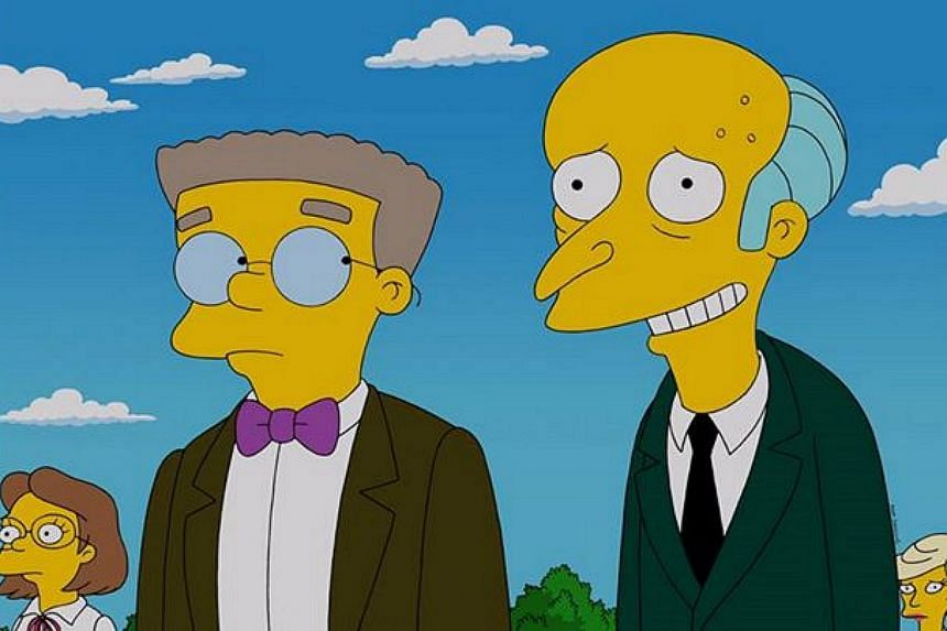 It has been an open secret for a while but Waylon Smithers Jr. (second from left), of the long-running cartoon comedy The Simpsons, is finally coming out as gay.