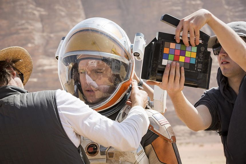 A still from the movie The Martian.