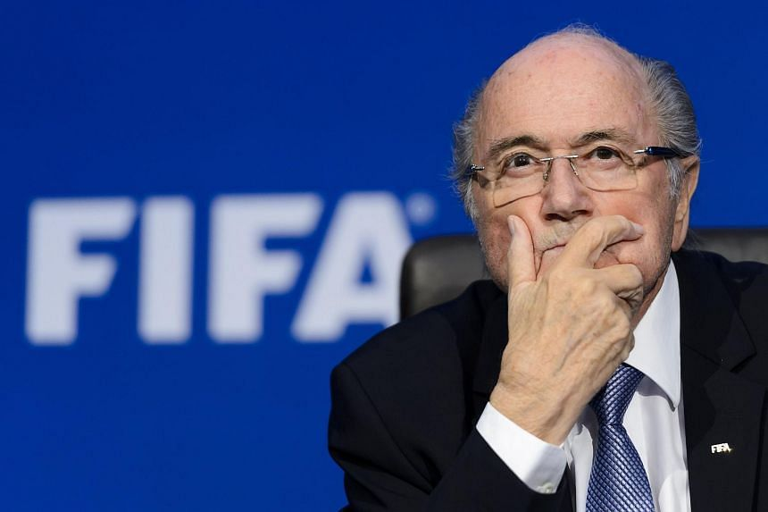 A picture taken on Jul 20, 2015, shows FIFA president Sepp Blatter gesturing during a press conference at the football's world body headquarter's in Zurich.