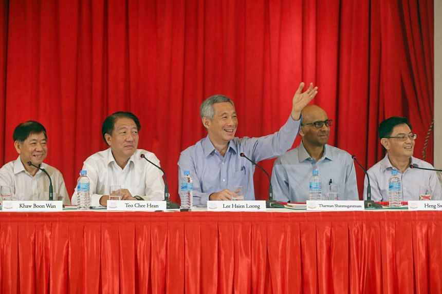PM Lee taking questions from reporters after he announced his Cabinet and other office holders at a press conference in the Istana on Sept 28, 2015.